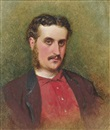 George Elgar Hicks, A self-portrait of the artist