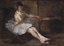 George Hendrik Breitner, Balletdanseres (Ballerina taking a rest)