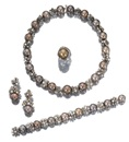 Adler, Parure comprising a necklace, a bracelet, and a pair of pendent earrings (set of 3)