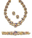 Adler, Demi-parure comprising a necklace, a bracelet, and a pair of matching earrings (set of 3)