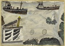 Alfred Wallis, Steamers at harbor entrance