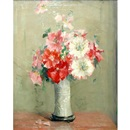 Anna S. Fisher, Still life with a vase of carnations