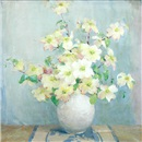 Anna S. Fisher, Still life of a vase with white flowers