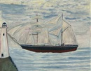 Alfred Wallis, Boat and lighthouse