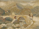 Adolphe Valette, The Roman Bridge at Polensa
