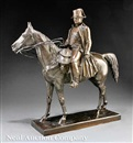 Louis Marie Moris, The Emperor Napoleon on horseback (Study for a monument?)