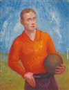 Angel Zárraga, Portrait d'un footballeur