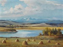 Duncan MacKinnon Crockford, The coming storm, Red Deer Lake, south of Calgary, Alberta