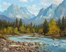 Duncan MacKinnon Crockford, The Lower Spray Valley, nr. Banff, Alberta