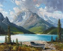 Duncan MacKinnon Crockford, Lake in the Rockies