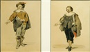 Jean Baptiste Madou, Portrait de David Bernier (+ another; pair)