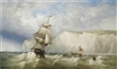 Henry King Taylor, Shipping in a heavy swell in the Channel off Dover