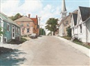 John Geoffrey Caruthers Little, Lunenburg, Nova Scotia, Fox Street near Cornwallis - Zion Evangelical Lutheran Church