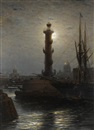 Aleksei Petrovich Bogolyubov, The rostral column near the Stock Exchange, St Petersburg