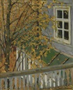 Konstantin Feodorovich Yuon, Autumn view from the balcony