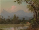 Martin Johnson Heade, South American scene with a cabin