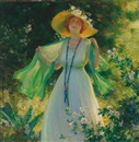 Charles Courtney Curran, Path of flowers