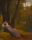 Washington Allston, Una sleeping in a wood