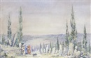 Manner Of Angelos Giallina, View of Istanbul from Eyoub