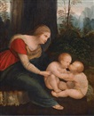 Follower Of Leonardo da Vinci, The Madonna looking over the Christ Child and the Infant Saint John the Baptist