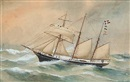 Reuben Chappell, The Danish schooner Activ of Thurø