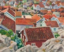 Marcus Collin, View over the village roofs