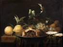 Joris van Son, Nature morte aux citrons, tourte et huitres