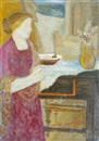 Imre Ámos, Woman at table