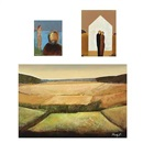 Freddy Eriksen, Landscape (+ 2 others, smaller; 3 works)