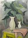 Lili Pancu, Ornamental plant (+ Still life with lemons (sketch), verso)