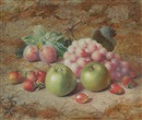 Charles Archer, Fruit 2 apples and strawberries