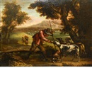 Follower Of Jan Miel, Hunter with his dogs