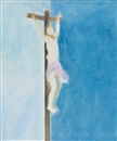 Craigie Aitchison, Crucifixion (after Delacriox)