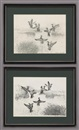 Reveau Mott Bassett, Ducks (+ another, etching; 2 works)