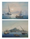 La Pira, Fishing off Capri in the mist (+ Fishing before Ischia; pair)