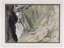 John Ruskin, A cave seen in sunlight (+ A cave seen in shade; pair)