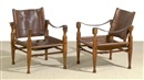 Carl Auböck Jr., Safari chairs (pair) (model 4979)