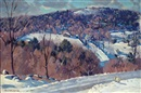 Robert B. Atwood, Hillside winter landscape