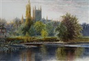 Thomas Greenhalgh, A view of Hereford Cathedral