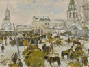 Ivan Semionovich Kulikov, Murom City Square (+ Horse and cart, smllr; 2 works)