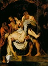 Follower Of Michelangelo Merisi da Caravaggio, Entierro de Cristo