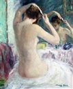 Marguerite Aers, Nude brushing her hair