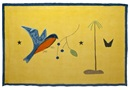 Craigie Aitchison, Blue bird yellow landscape wall hanging