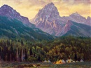 Gary Kapp, Evening beneath the sacred mountain