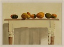 Michael Costello, Gourds on a Shaker-style table