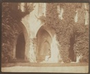 William Henry Fox Talbot, The ancient vestry - The Reverend Calvert R. Jones in the Cloisters, Lacock Abbey