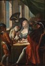 Follower Of Francesco Zugno the Younger, Scena galante con personaggi in maschera