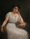 Charles Goldsborough Anderson, A portrait of a lady in white