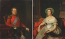 Emilius Baerentzen, Portraits of King Chr. VIII and Queen Caroline Amalie (2 studies)