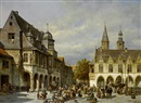 Jacques François Carabain, Market day, Goslar, Germany